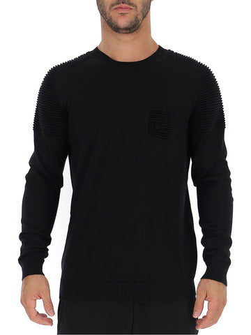 Fendi Crewneck Knitted Pullover