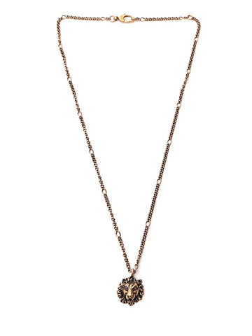Gucci Lion Head Pendant Necklace