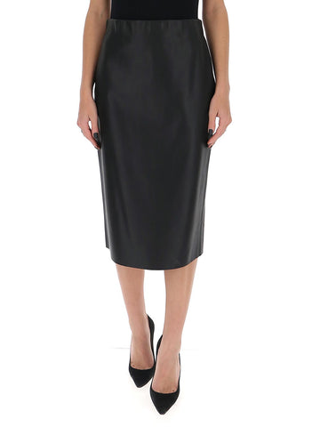'S Max Mara Faux Leather Pencil Skirt