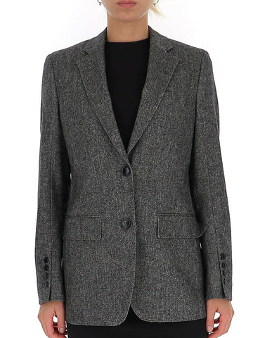 Burberry Single Breasted Tweed Blazer