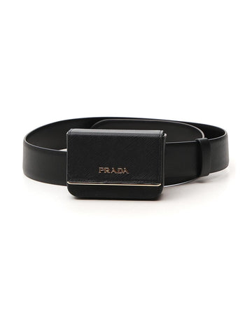 Prada Pouch Buckle Belt