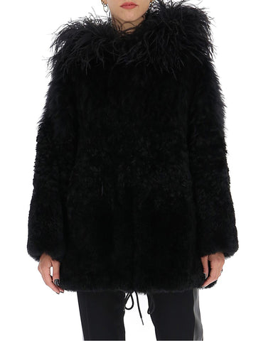 Prada Hooded Fur Coat