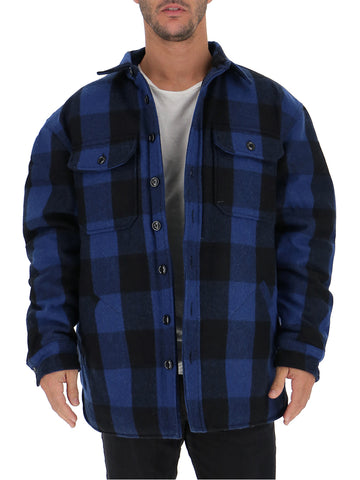 R13 Checked Padded Shirt Jacket