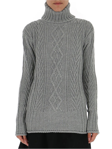 Thom Browne Center-Back RWB Turtleneck Sweater