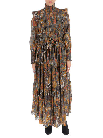 Ulla Johnson Constantine Floral Print Midi Dress