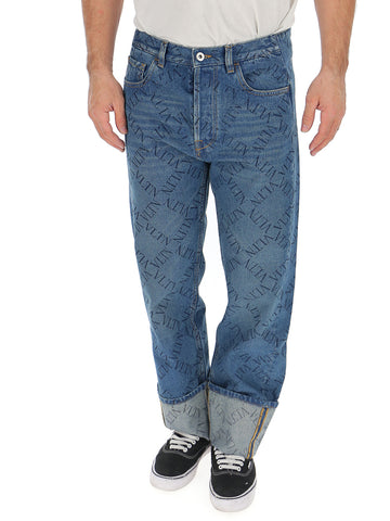 Valentino VLTN Print Rolled Up Jeans