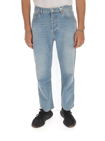 Valentino Faded Straight-Leg Jeans