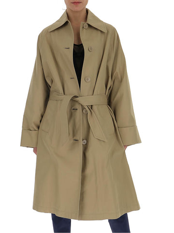 Mm6 Maison Margiela Single-Breasted Belted Trench Coat