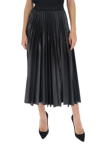 Givenchy Pleated Logo Band Skirt