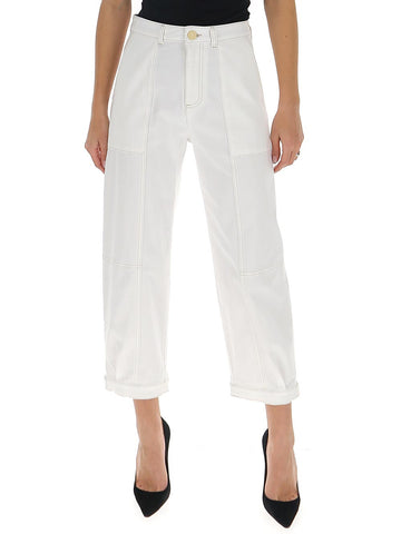 See By Chloé Panelled Cropped Jeans