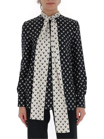 Valentino All Over V Logo Blouse
