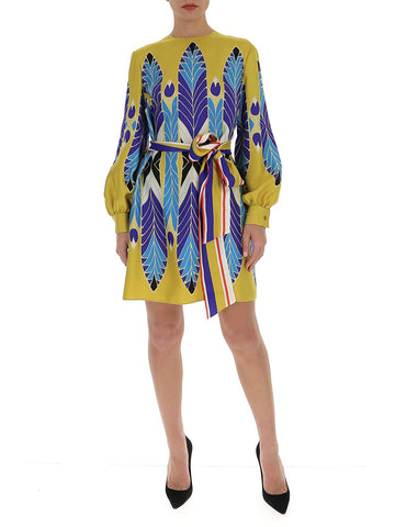 Valentino Printed Belted Dress