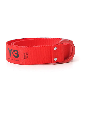 Y-3 Logo D-Ring Belt