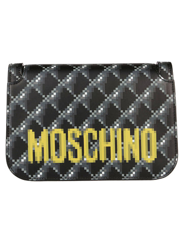Moschino Pixelated Print Shoulder Bag