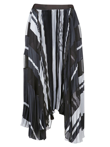 Sacai Pleated Motif Skirt