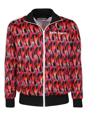 Palm Angels Flame Motif Track Jacket