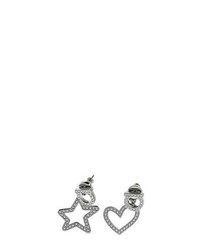 Salvatore Ferragamo Gancini Star Heart Earrings