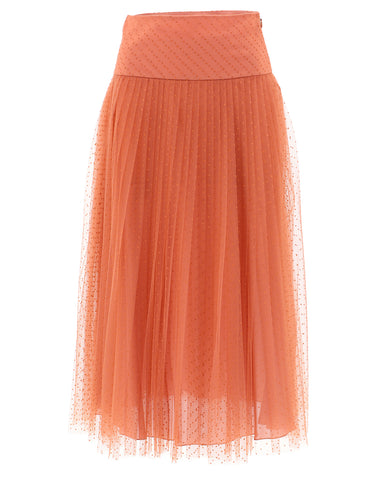 Dior Tulle Pleated Midi Skirt
