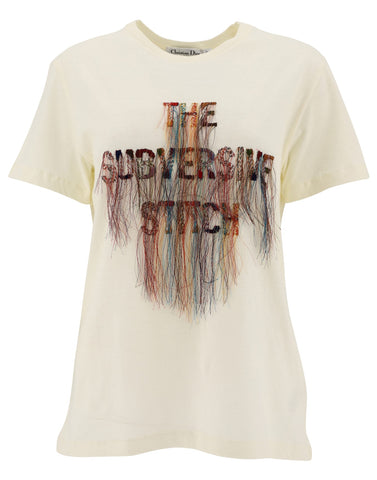 Dior The Subversive Stitch Embroidered T-Shirt