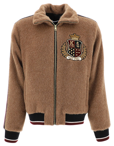 Dolce & Gabbana Logo Embroidered Zip-Up Jacket