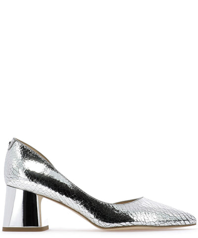 Michael Michael Kors Metallic Block Heel Pumps