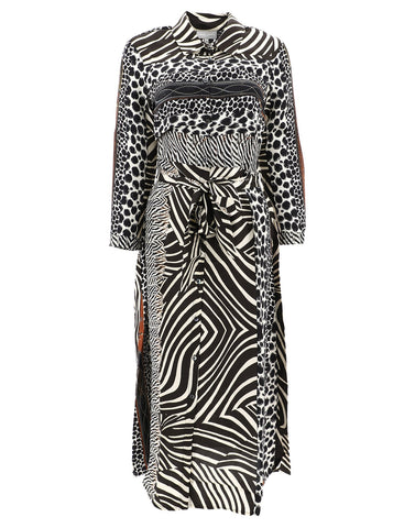 Pierre-Louis Mascia Patchwork Animalier Shirt Dress