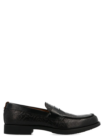 Burberry Monogram Embossed Loafers
