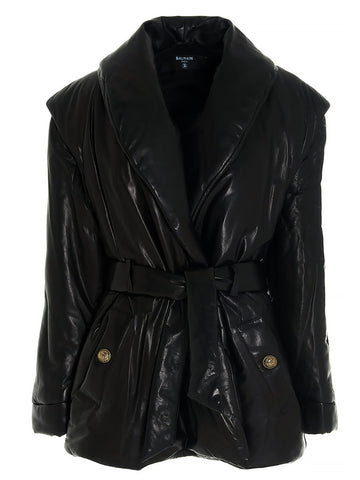 Balman Leather Down Jacket