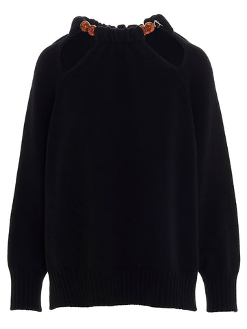 Jil Sander Beaded Detail Sweater