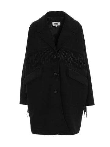 MM6 Maison Margiela Fringe Detail Coat