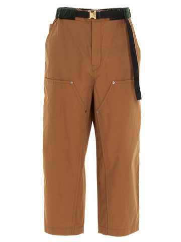 Sacai Belted Cropped Trousers