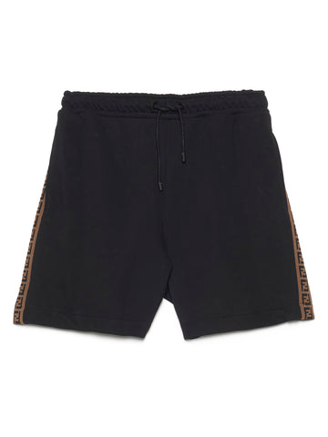 Fendi FF Striped Bermuda Shorts