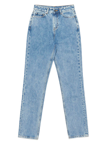 Ganni Washed Straight Leg Jeans