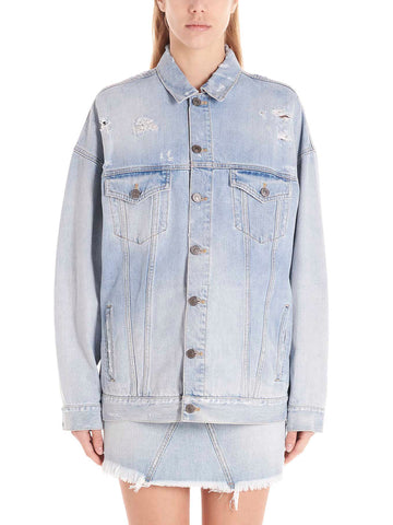 Givenchy Destroyed Oversized Denim Jacket
