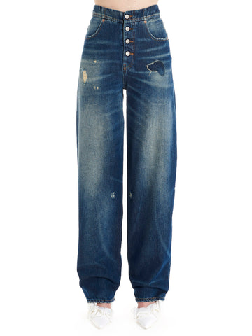 Mm6 Maison Margiela Distressed Jeans