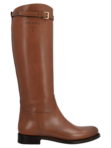 Prada Buckle Detail Boots