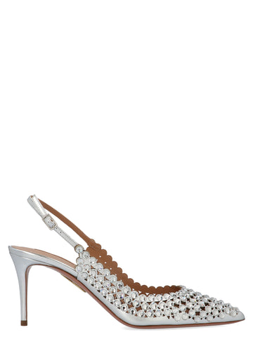 Aquazzura Crystal Embellished Slingback Pumps