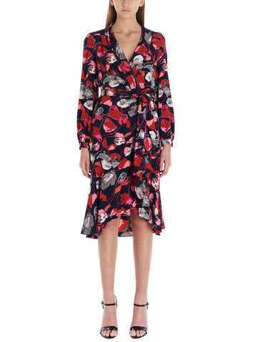 Diane Von Furstenberg Ruffled Floral Wrap Dress