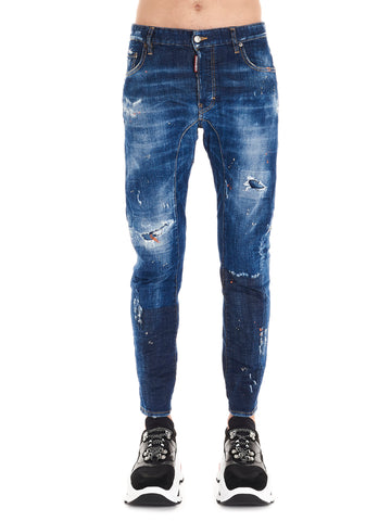 Dsquared2 Ripped Biker Jeans