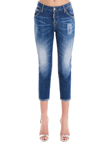 Dsquared2 Slim Fit Cropped Jeans