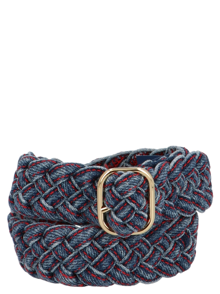 Philosophy Di Lorenzo Serafini Plaited Denim Belt