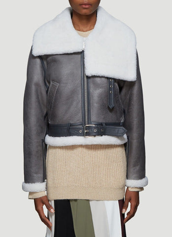 JW Anderson Cropped Shearling Jacket