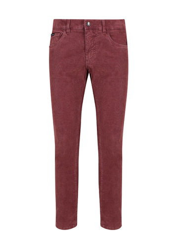 Dolce & Gabbana Slim-Fit Corduroy Pants