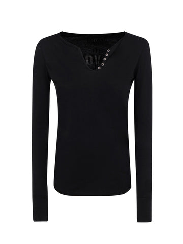 Zadig & Voltaire Logo Embellished Long-Sleeve Top