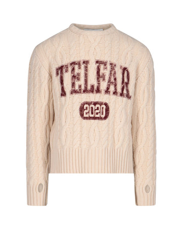 Telfar Cable Knit Jumper