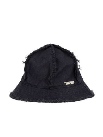 Off-White Frayed Bucket Hat
