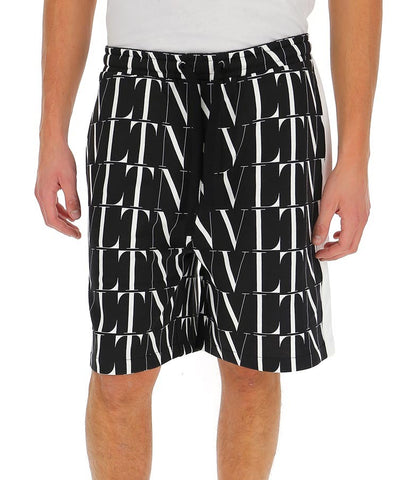 Valentino VLTN All Over Logo Printed Shorts