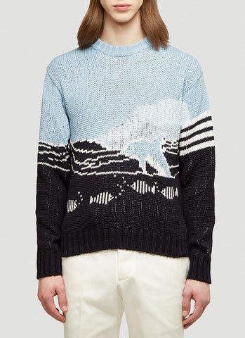 Thom Browne Dolphin And Sea Scenic Jumper
