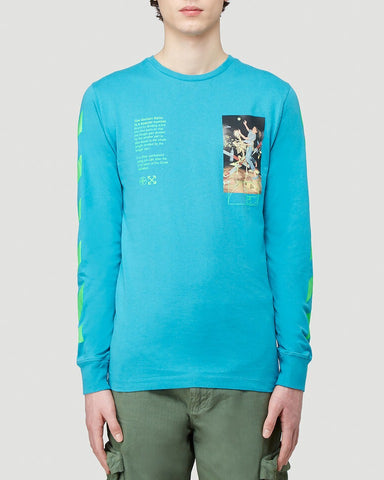 Off-White Pascal Painting Print Long Sleeve T-Shirt