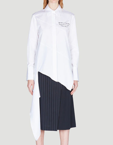 Off-White Asymmetric Embroidered Shirt